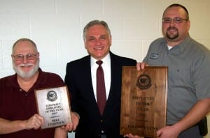 CCNO ... Pictured, left to right, is Contract Employee of the Year Mike Chadwick; CCNO Executive Director Jim Dennis; and CCNO Employee of the Year Joel Stephens.