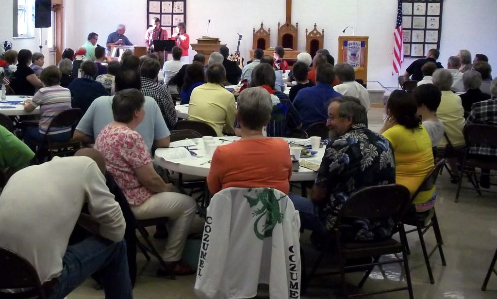 DAY OF PRAYER ... A good-sized crowd enjoyed the Day of Prayer service.