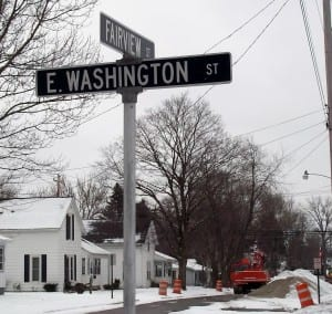 Sewer 9, 10 – Fairview Street is closed south of East Washington Street as work progresses on the sewer project.